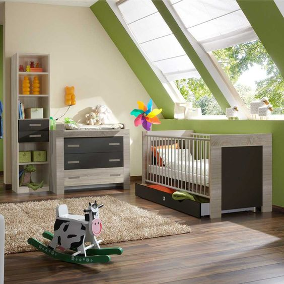 babyzimmermöbel-set in eiche sägerau versandkostenfrei auf