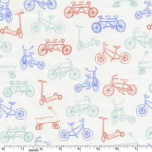 Fabric...Sarah Jane - Children at Play Flannel - On the Go in Aqua