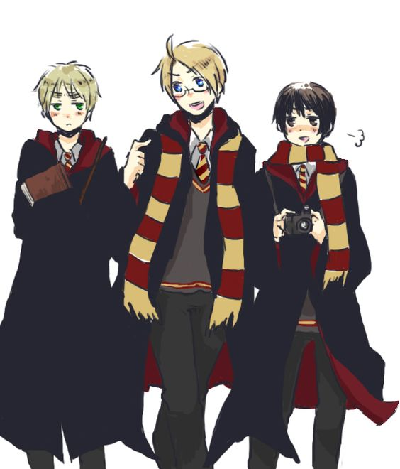 Anime Characters React Fanfiction : Hetalia harry potter crossover japan england and america