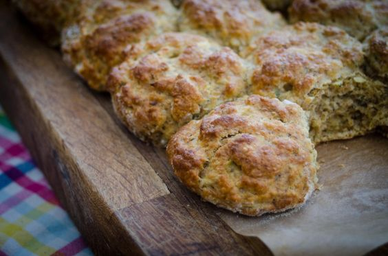 A recipe for apple, sage and chai seed scones, a wholesome and healthy snack or breakfast alternative