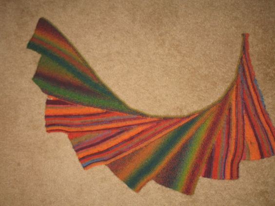 Knitted Pattern For Wingspan Scarf : First Wingspan scarf (pattern from ravelry.com, search for Wingspan and find ...