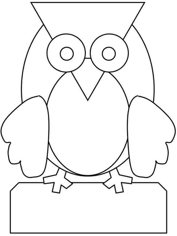owls coloring pages preschool | Pinterest • The world's catalog of ideas