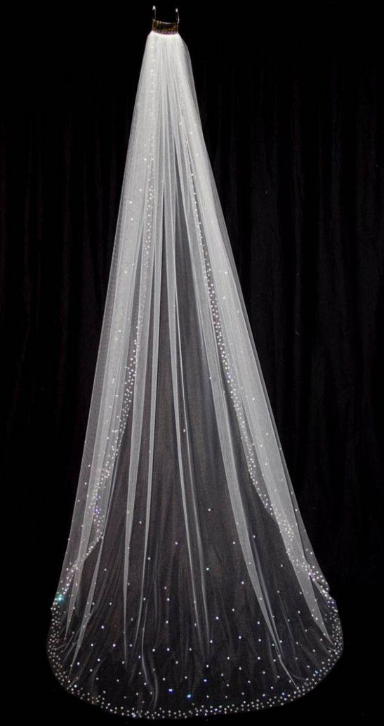 Wedding Veils With Bling Sparkle Wedding Veil Styles Wedding Veils Ivory Bridal Veil
