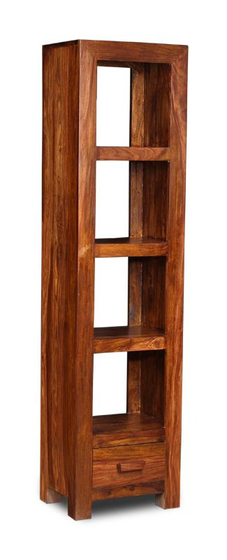 Dark Cube Sheesham Bookcase for your Living Room