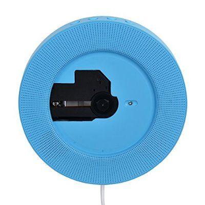 Peneric® Portable Latest Wall Hanging Mounted Hifi CDS Music Player Antenatal Training Wall Cd Player + Fm Radio + U Disk Listening to Music (Blue)
