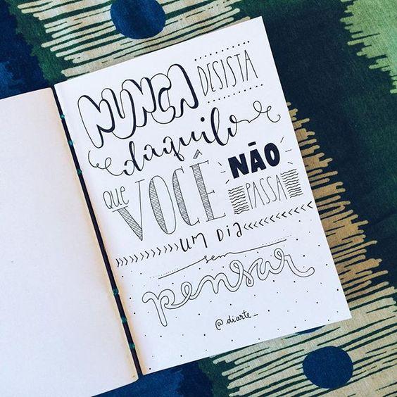 nunca desista daquilo que você não passa um dia sem pensar  bom dia…