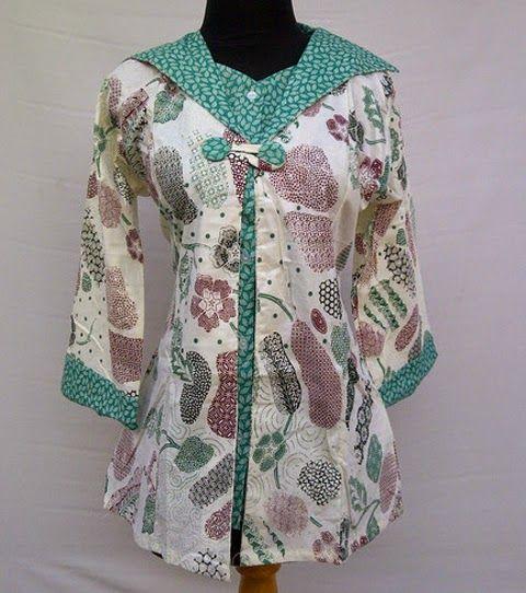 Model Baju Batik Wanita Modern Wanita Model Pakaian Model