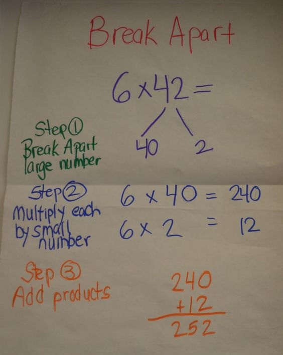 math worksheet : break apart method multiplication  google search  homework  : Break Apart Multiplication Worksheets