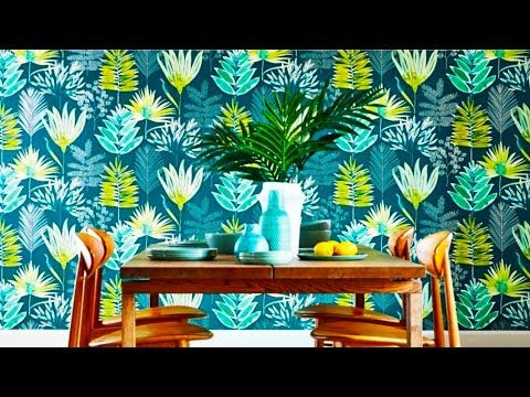 Modern Wall Texture Painting Designs Latest Wall Painting Interior Ideas Youtube Contemporary Wallpaper Designs Contemporary Wallpaper Botanical Wallpaper