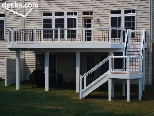 With patio underneath perfect deck inspirations for 2 story porch columns
