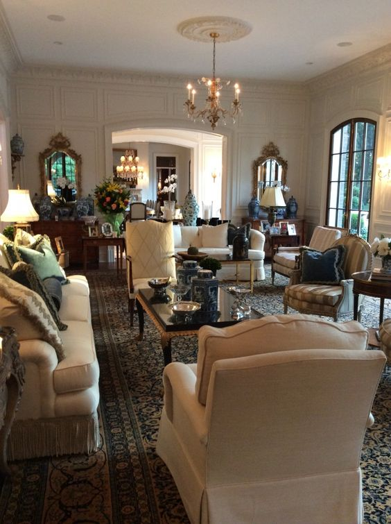 enchanting home staging small living rooms   The Enchanted Home Living room chandelier, millwork, entry ...