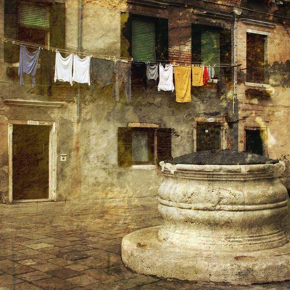 La lavanderia e la cisterna - Campo dei Mori, Cannaregio