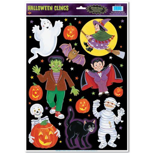 Halloween Character Clings Party Accessory 1 count 12Sh * Read more  at the image link.