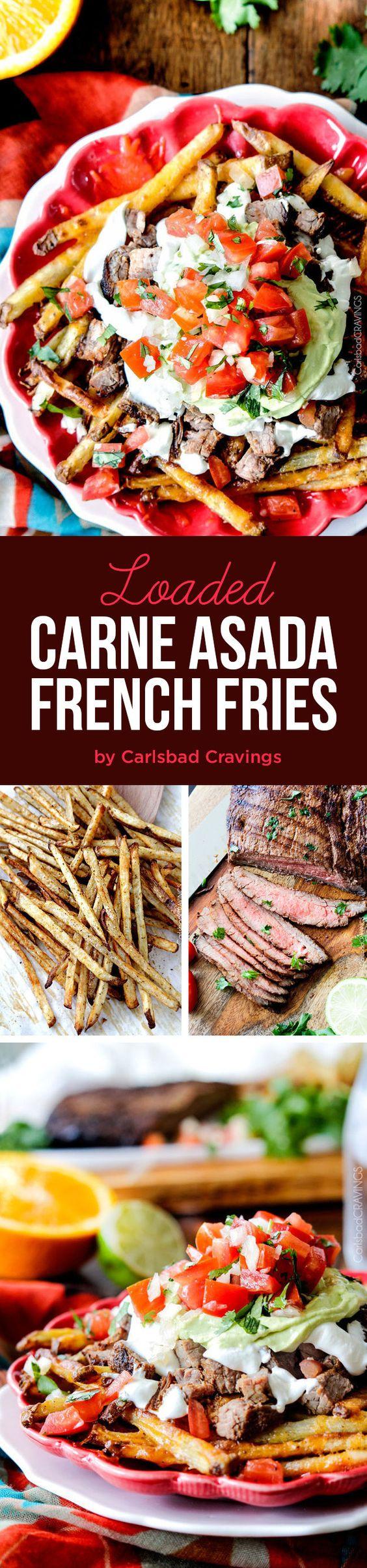 Loaded Carne Asada French Fries