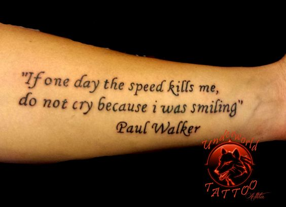 rip paul walker paulwalker tattoo underworld tattoo