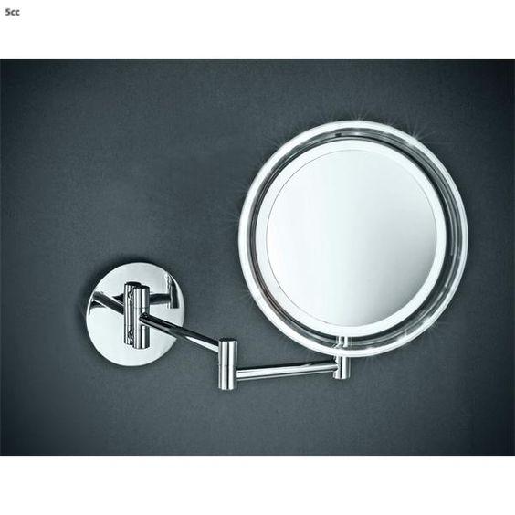 Decor Walther Make-up Spiegel Bs 16 Met Led Verchroomd Messing | Decor Walther Make Up Spiegels