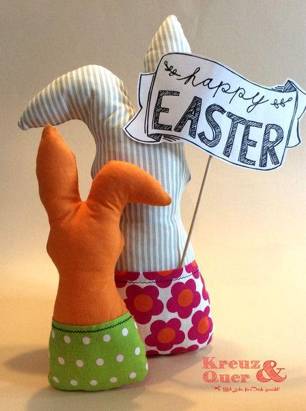 Deko-Objekte - Hasen Hasenpost groß & klein - ein Designerstück von Kreuz_und_Quer bei DaWanda