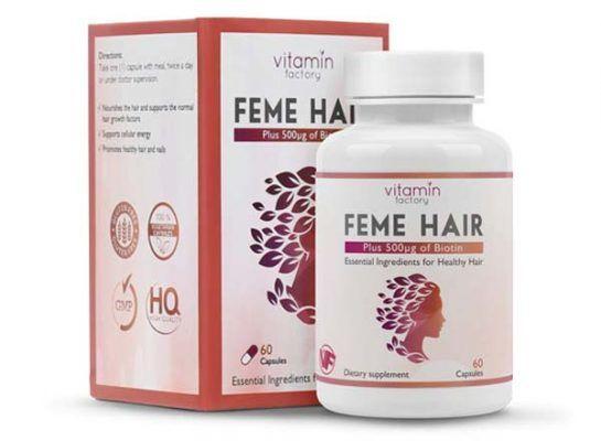 حبوب فيتامين فيمي هير للشعر Feme Hair النهدي Vitamins Ingredients