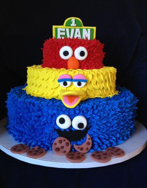 Sesame Street Birthday Cake baby Pinterest Sesame street