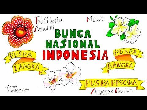 Cara Menggambar Membuat Poster Flora Bunga Nasional Indonesia Yang Bagus Dan Mudah Ditiru Ep 226 Youtube Poster Flora