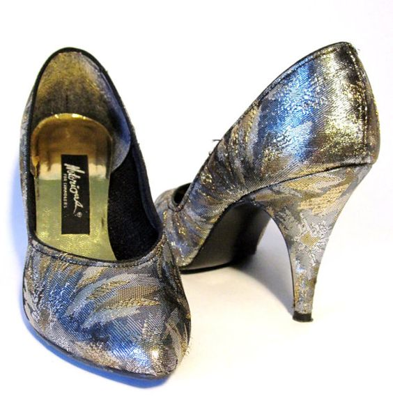 80s Gold and Silver Metallic Stilettos
