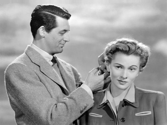 "Cary Grant and Joan Fontaine - Suspicion  I love it when he calls her ""monkey face"":):"