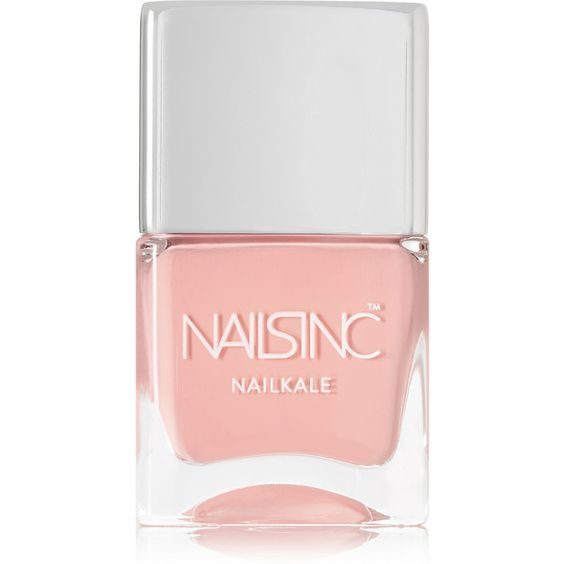 Nails inc NailKale Polish - St. John's Wood Gardens (£15) ❤ liked on Polyvore featuring beauty products, nail care, nail polish, makeup, beauty, nail, pink, nails inc nail polish, shiny nail polish and pink nail polish