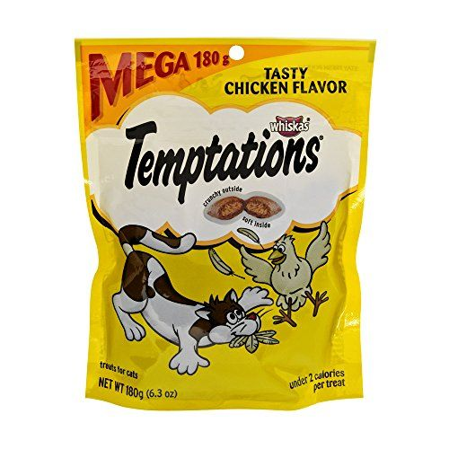 Temptations Classic Tasty Chicken Flavor Cat Treats Click Image To Review More Details This Is An Affiliate Li Chicken Flavors Tasty Flavors