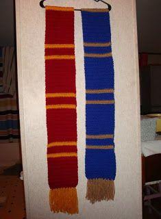 What is Bridget Crocheting?: Hogwarts House Scarves