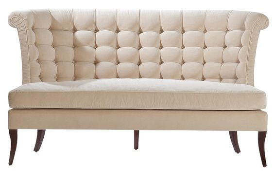 Harlow Settee  Transitional, Upholstery  Fabric, Settee by Ebanista