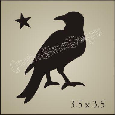 free primitive stencils | Crow Stencil Free Pic #15 | primitive ...