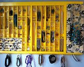 Letterpress Drawer Jewelry Box Display Yellow