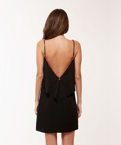 Solid Black Aline Short Dress
