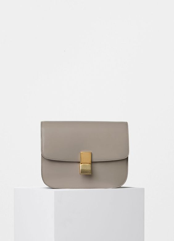 buy celine bag online usa - Medium Classic Shoulder Bag in Quartz Spazzolato Calfskin - C��line ...