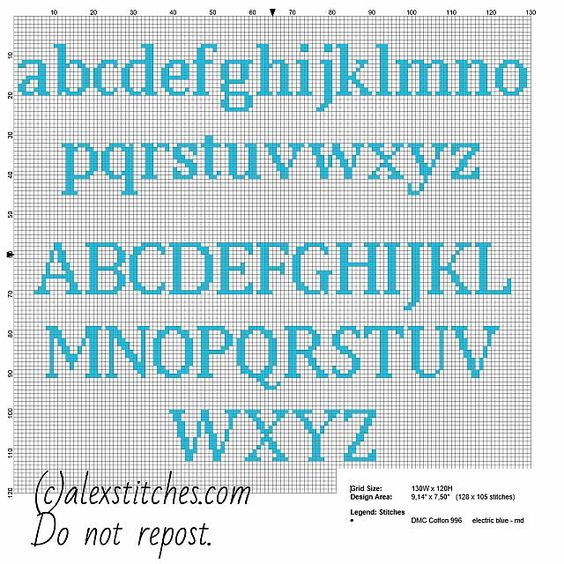 Cross stitch alphabet uppercase and lowercase letters for names with Squirtle Pokemon free download - free cross stitch patterns by Alex
