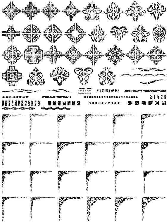 飾り罫素材集 飾り罫「虫食い編」(イラストレーター,Illustrat :AP-02363:デジタル素材集 テンプテーション - 通販 - Yahoo!ショッピング