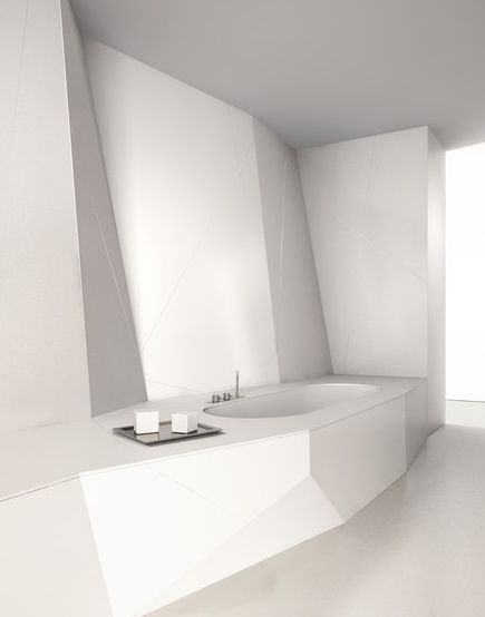 Futuristic white bathroom, Eclettico by Makro