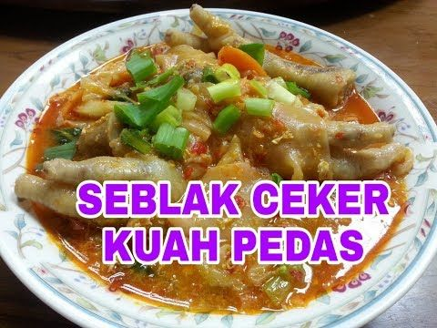 Seblak Ceker Kuah Pedas Youtube Makanan Resep Makanan Resep