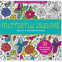 Butterfly Designs Adult Coloring Book (31 stress-relieving designs) (Studio)