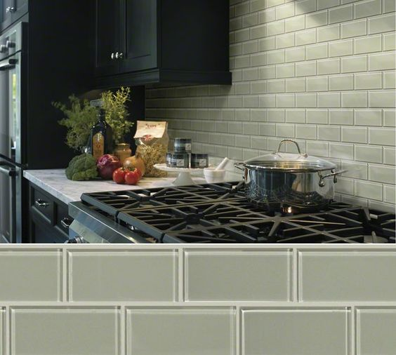 Shaw Floors Ceramic in style Elements colr Light Grey. Glass tile ...