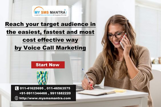 Quick and Reliable Web based Voice Broadcasting Service. Pre-recorded Bulk Voice Calls. Reach your target audience in the easiest, fastest and most cost effective way.  Know more visit : http://www.mysmsmantra.com/voice-calls.html
