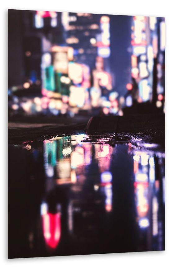 Times Square in der Pfütze Poster