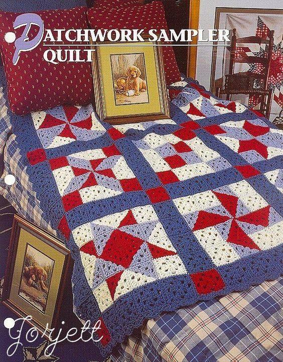 Patchwork Sampler Quilt Afghan, Annie's crochet pattern