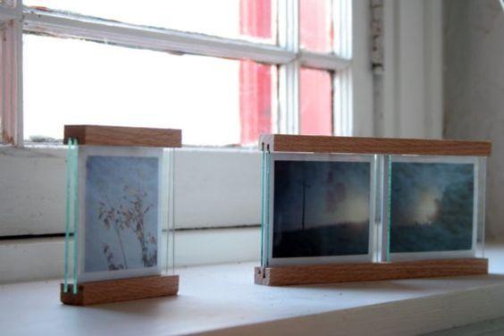 nice idea for framing polaroids