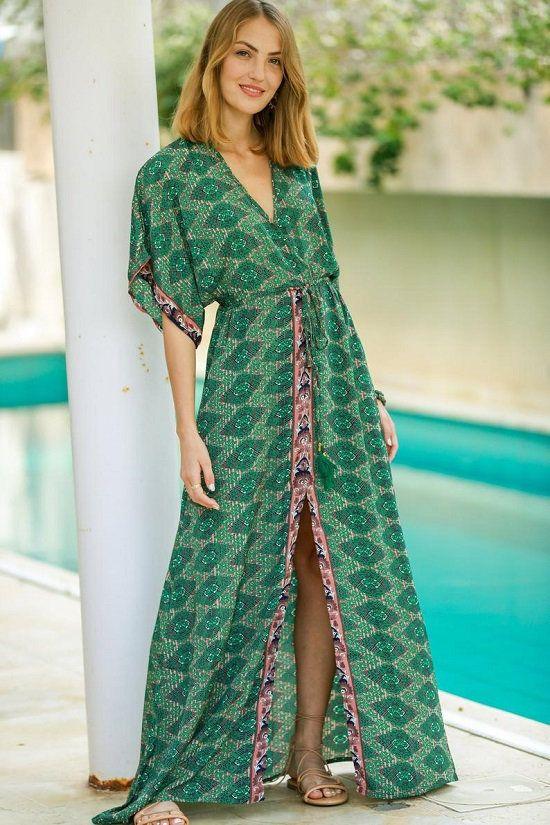 Vintage silk kaftan African style full length embleshed caftan dress for woman girls Indian Handmade  Caftan Beach Wear Swimwear