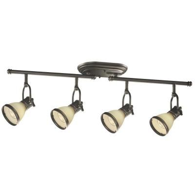 hampton bay brookhaven collection 4 light oil rubbed bronze fixed track lighting light eyy2304h bronze track lighting