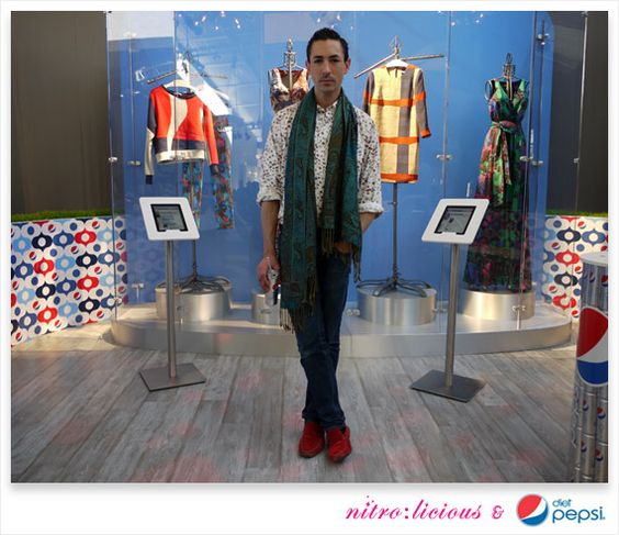 Christian Cota stopped by the Diet Pepsi Refresh Studio in the Grand Lobby at Lincoln Center to give a sneak peek of his Diet Pepsi-inspired capsule collection.