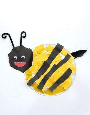 Bee Kid Crafts - bug kid craft - insect kid craft amorecraftylife.com #kidscrafts #craftsforkids #preschool