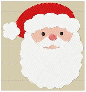 MINI SANTA- Super cute- can be stitched on hair bows & goes as big as 3.5inches