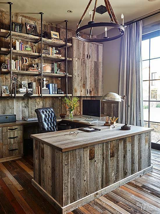 47 Inspiring Rustic Farmhouse Home Office Design Idea Rustic